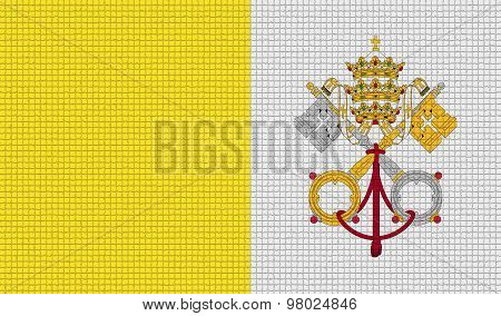 Flags Vatican Cityholy See With Abstract Textures. Rasterized