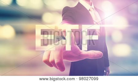 Businessman Pointing At Etf