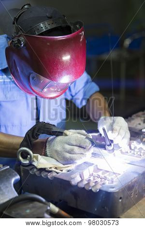 Welding Work By Tig Welding
