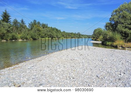 An image of the Isar near Pupplingen Bavaria Germany