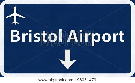 Bristol England United Kingdom Airport Highway Sign