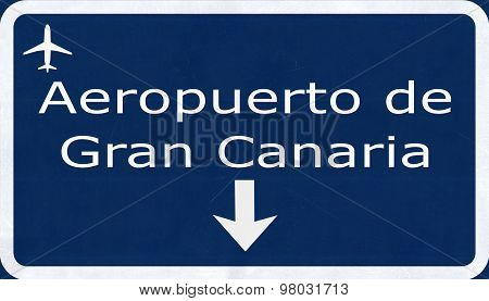 Gran Canaria Spain Airport Highway Sign
