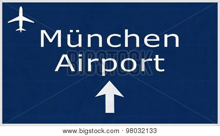 Munchen Germany Airport Highway Sign