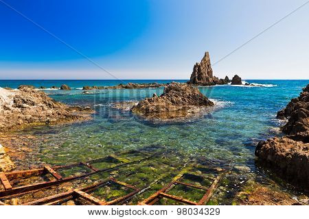 Seascape in Almeria, Cabo de Gata National Park, Spain