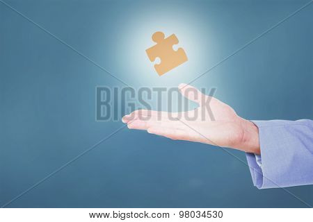 Handsome businessman gesturing with hands against blue background Handsome businessman gesturing with hands on a white background