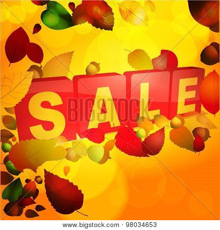Autumn Sale Tabs Background