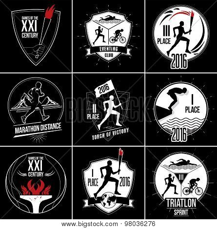 A set of Sports logos, emblems and design elements