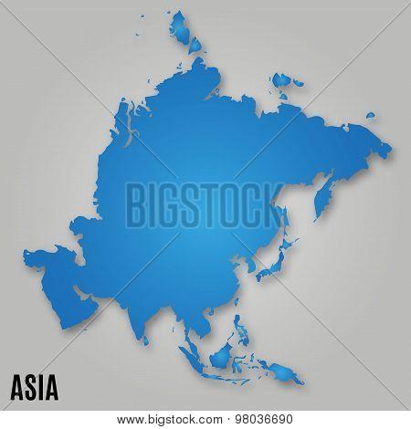 Asia Political Map Card Paper
