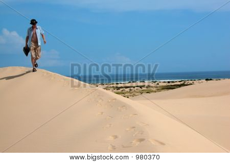 Walking Across The Sand Dunes