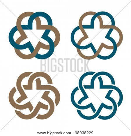 vector abstract magic knot flower eternity emblem