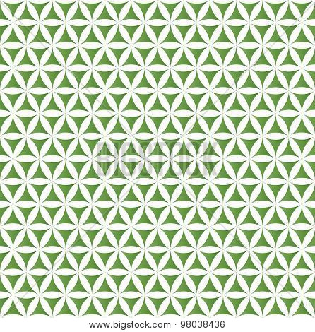 green flower of life sacred geometric seamless background