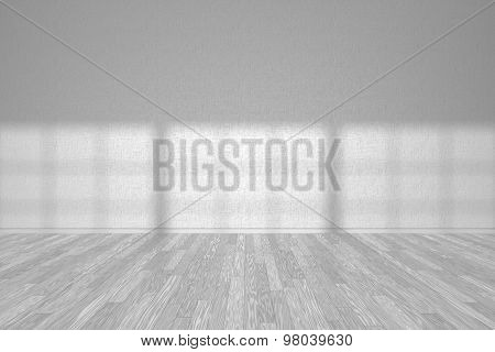 Wall Of White Empty Room With White Parquet Floor