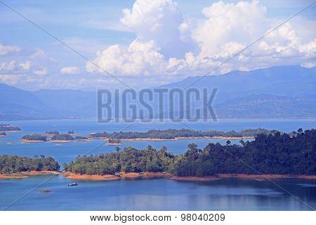 Ngum Nam Reservoir in Laos