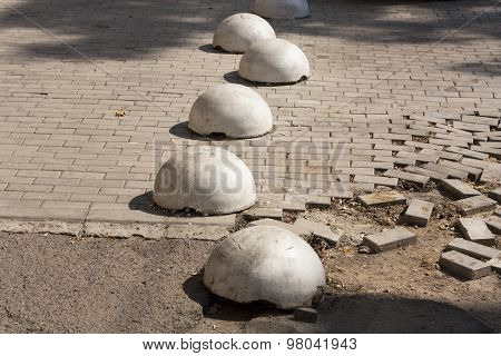 Roadside Traffic Safety Bollards Photo