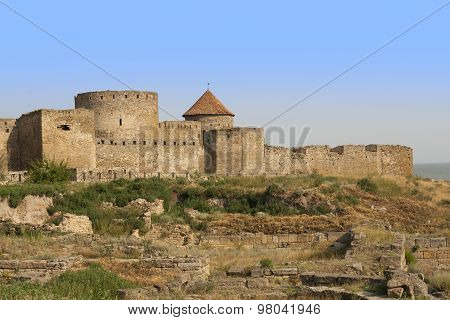 Ancient Akkerman Fortress At Belgorod-dnestrovsky, Near Odessa, Ukraine. Citadel Old Fortress. The S