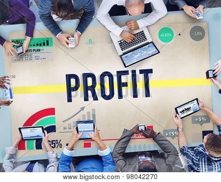 Profit Benefit Revenue Gain Accounting Concept