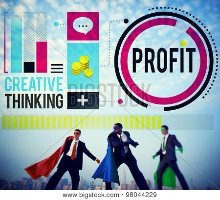 Profit Revenue Income Improvement Growth Success Concept