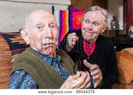 Arguing Senior Couple
