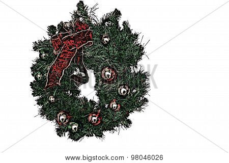 Christmas Wreath - Isolated