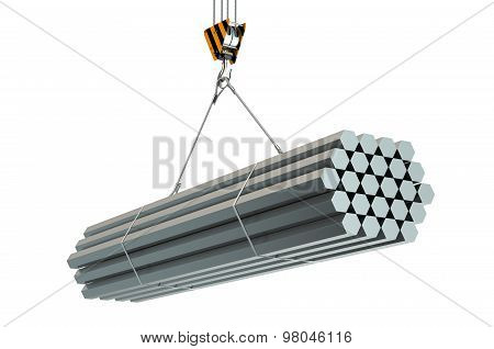Crane Hook With Rolled Metal Hexagon Bars