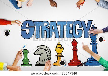 Strategy Business Planning Analysis Target Achievement Development Success Concept