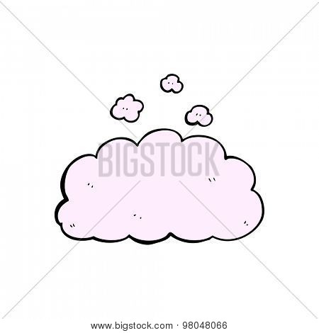 cartoon fluffy pink cloud