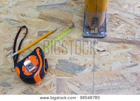 Jigsaw, Roulette And Lumber. Construction And Repair