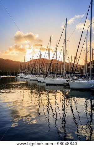 Marina in Tortola island in BVI