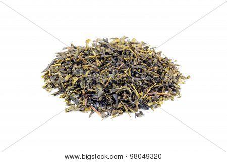 Heap Of Loose Green Tea Earl Grey On White