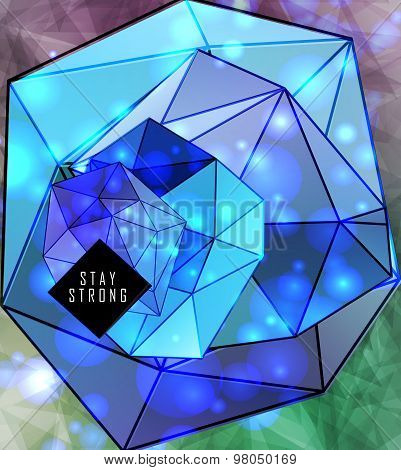 polygonal triangles and space background