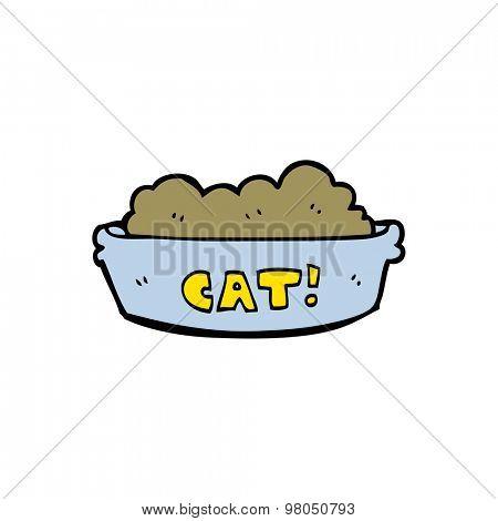 cartoon bowl of cat food