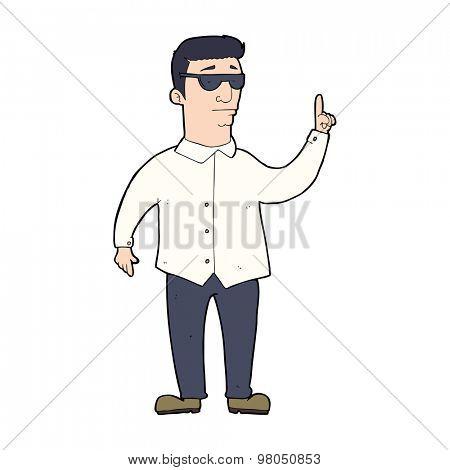 cartoon man wearing sunglasses