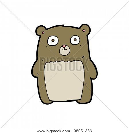 cartoon funny teddy bear