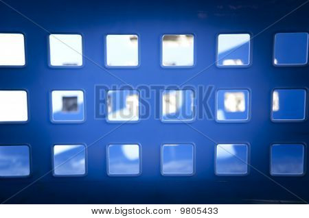 Square Blue Windows