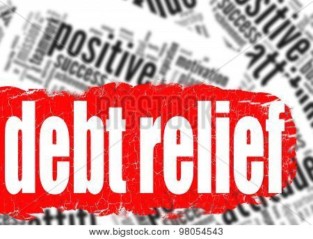 Word Cloud Debt Relief