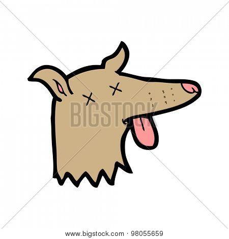 cartoon dead dog face