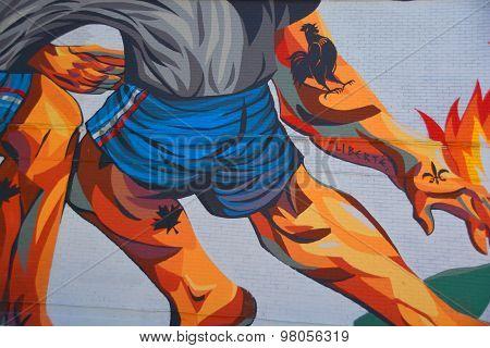Street art fight