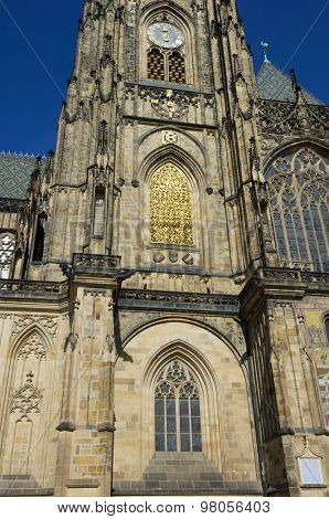 St. Vitus Cathedral, Gothic, 14th century, Prague, Czech Republic.