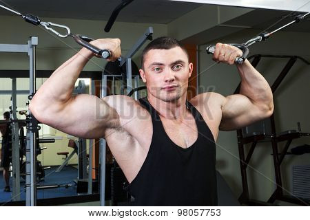 a man in a fitness club