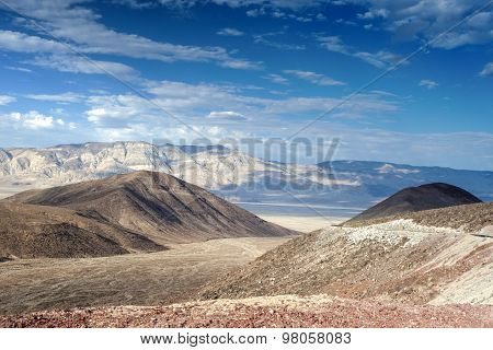 The Mountain Range In Death Valley National Park In California, United States