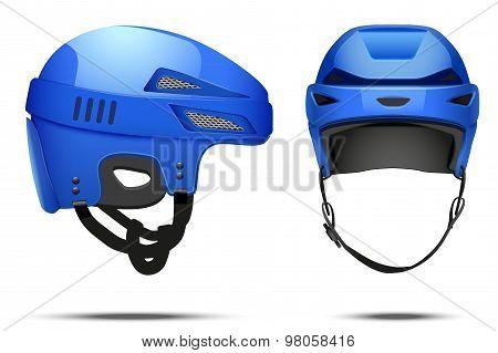Classic blue Hockey Helmet