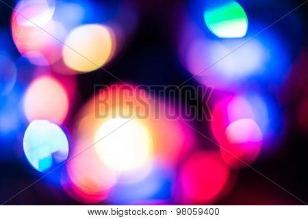 violet bokeh lights