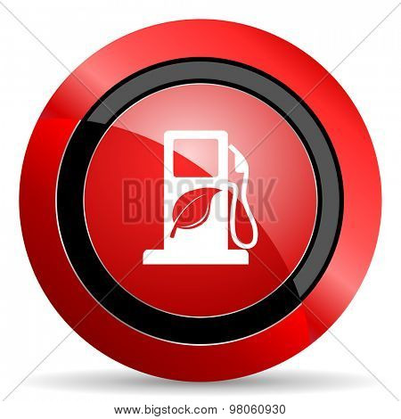 biofuel red glossy web icon