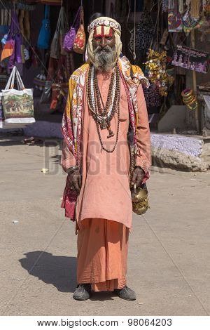 Indian Sadhu - Holy Man. Pushkar , India