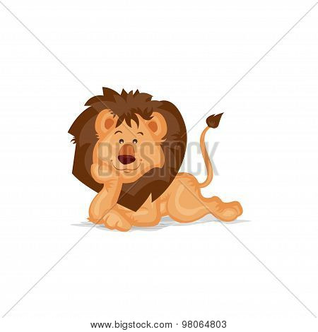 Cute Lion Thinking
