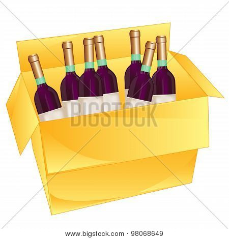 Box with wine