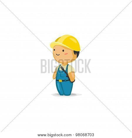 Maintenance Worker with a Screwdriver