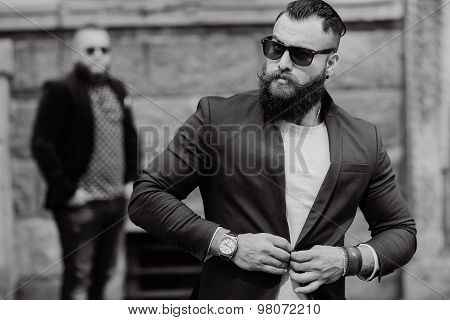 Two bearded men fashion