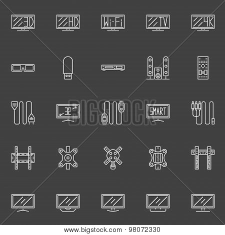 TV line icons