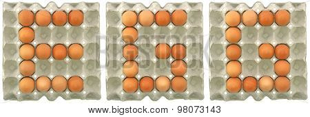 Egg Word From Eggs In Paper Tray